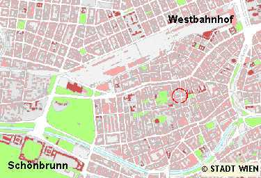 Vienna lodging area map